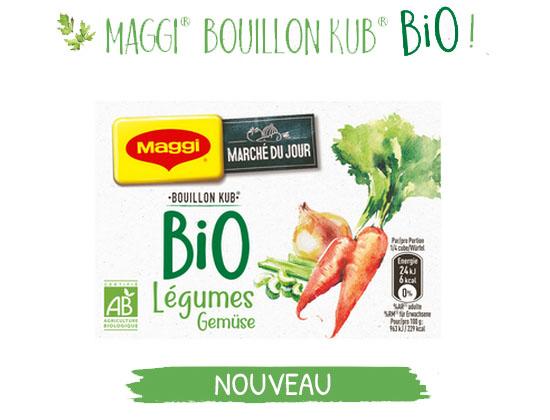 Test n°864: Maggi – Bouillons Bio Légumes