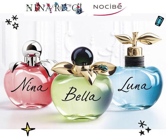 Echantillon n°1540: Nocibé – Nouveaux Parfums Nina Ricci