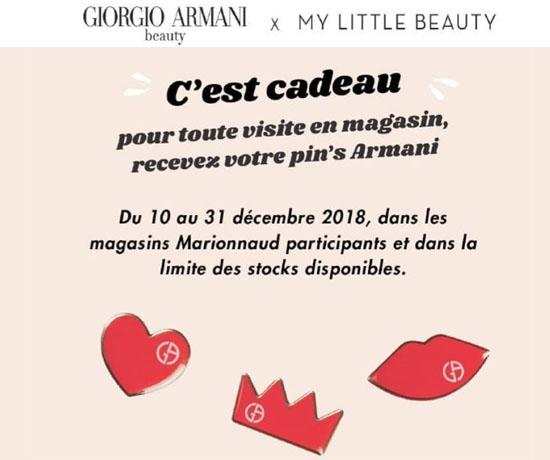 Echantillon n°1571: Armani – Pin's Siglé