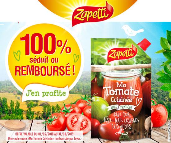 Test n°879: Zapetti – Sauce Tomate Cuisinée