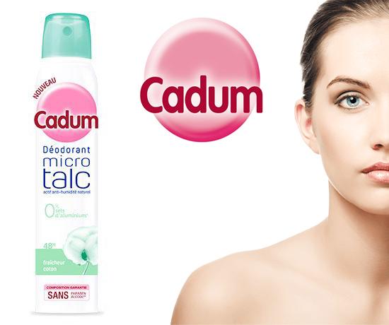 Test n°896 : Cadum – Déodorant fraîcheur coton