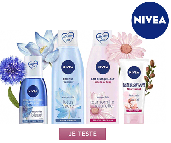 Test n°923 : Nivea – lot de 4 produits