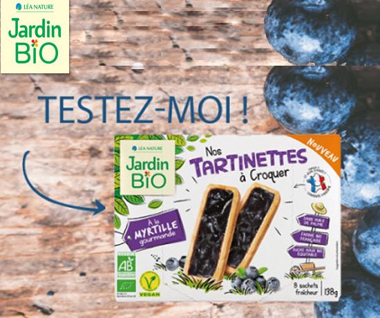 Test n°921 : Tartinettes à la Myrtilles – Jardin Bio