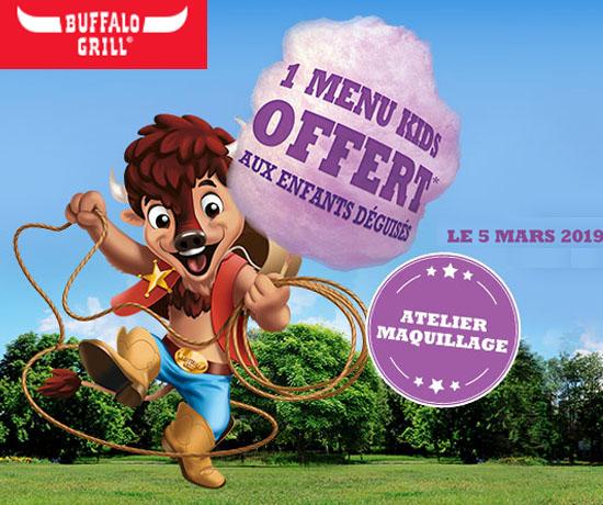 Bon plan n°247 : Buffalo Grill – Menu Kids OFFERT
