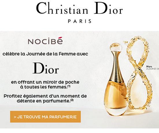 Échantillon N°1800 : Dior – Miroir de Poche
