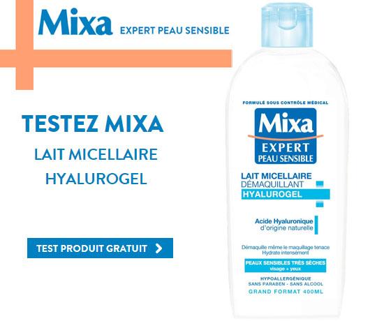 Test Gratuit: Mixa – Lait Micellaire Hyalurogel