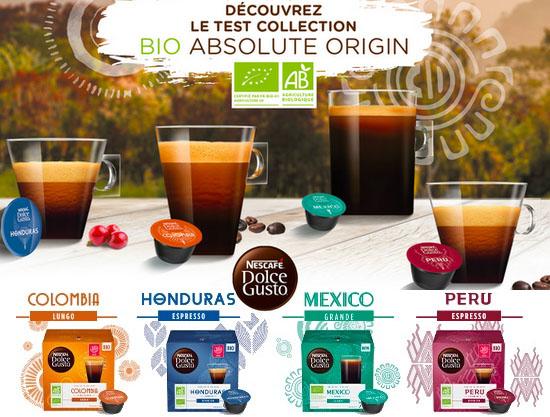 Test Gratuit: Nescafé – Café Bio Dolce Gusto