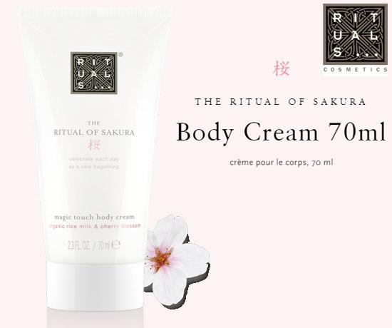 Crème pour le corps Sakura GRATUIT