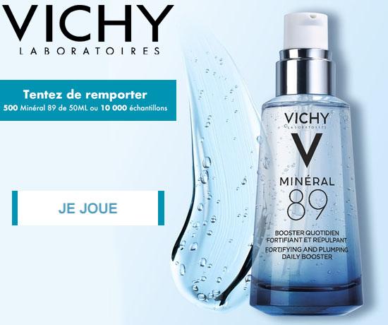 Jeu-Concours Gratuit : Vichy – Minéral 89 et 10 000 Cadeaux