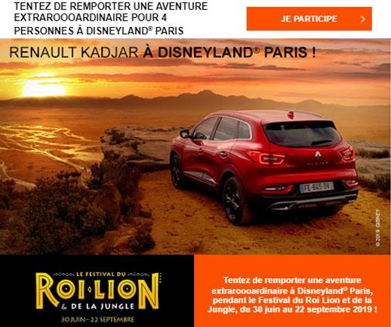 Jeu-Concours Gratuit : Renault – Séjour Exclusif à Disneyland Paris