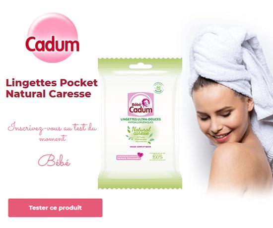 Lingettes Pocket Natural Caresse à l'huile d'amandes douce Bio
