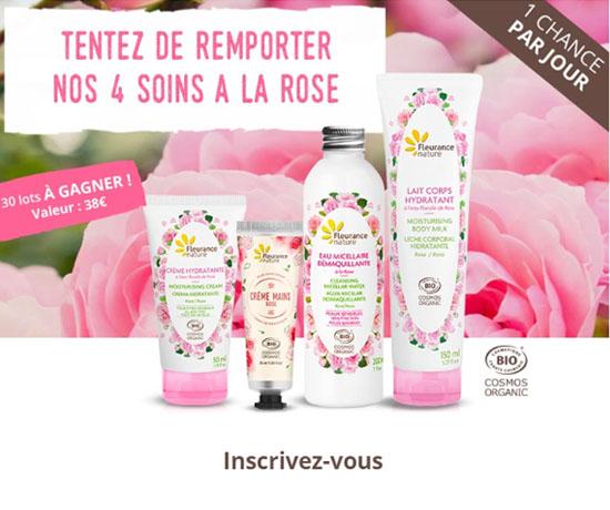 Jeux concours : Fleurance nature – Soins à la rose