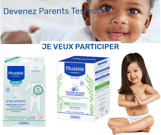 produits enfants et bébés de la marque Mustela