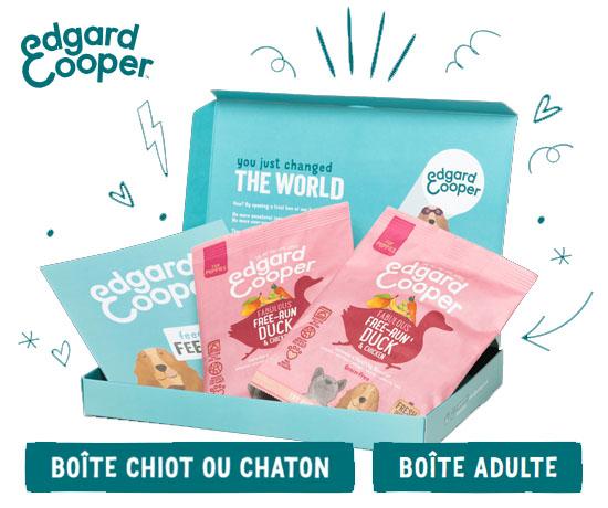 Boites à croquettes gratuites pour chien ou chat avec Edgard & Cooper