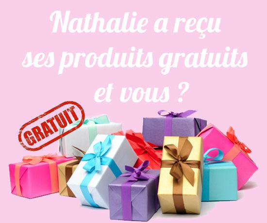 Avis : Nathalie – Ses Produits Gratuits Reçus
