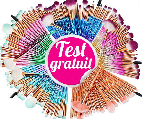 Test Gratuit : Amazon – Lots de Pinceaux Maquillage