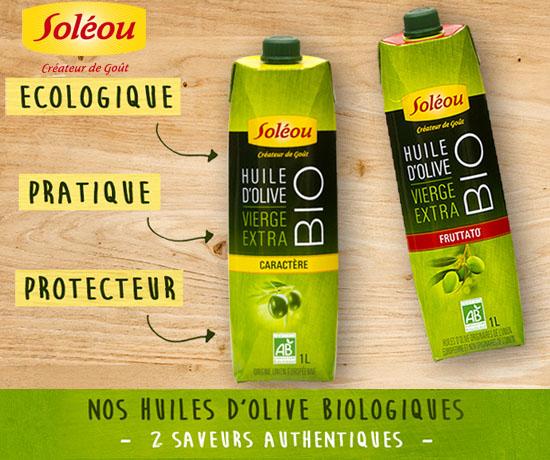 Test Gratuit : Soléou – Huile Olive