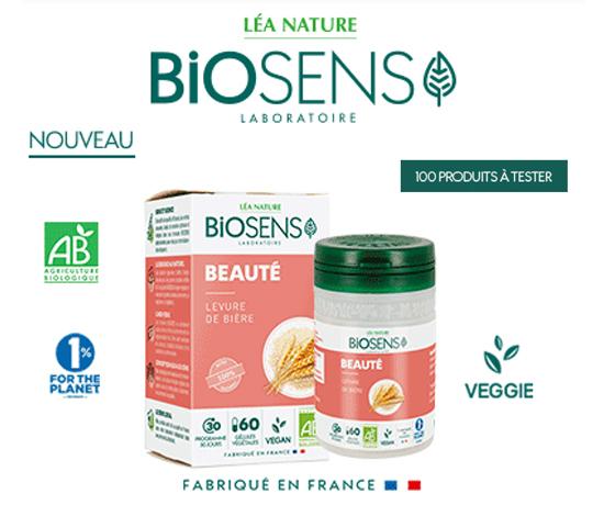Gélules Beauté Levure de Bière de la marque Biosens gratuites