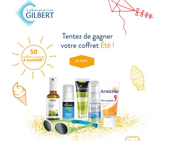 Jeux concours : Laboratoire Gilbert – Coffret Vacances