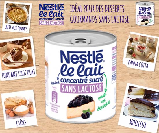 Test Gratuit : Nestlé – Lait Concentré sans lactose