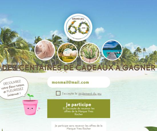 Jeux Concours : Yves Rocher – Beautiful expériences