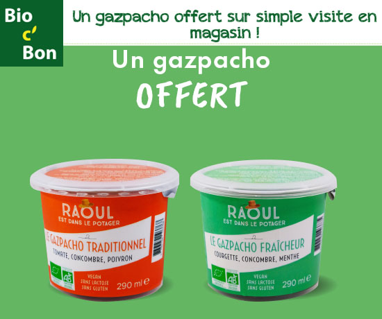 Echantillon Gratuit : Bio c' Bon – Gazpacho Offert