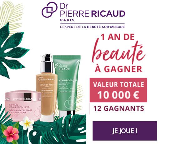 Dr Pierre Ricaud 1 an de beauté offert Jeu Concours