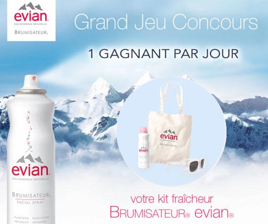 Jeu Concours : Evian – Cadeaux Rafraîchissants