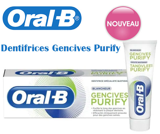 Dentifrices Gencives Purify Oral B