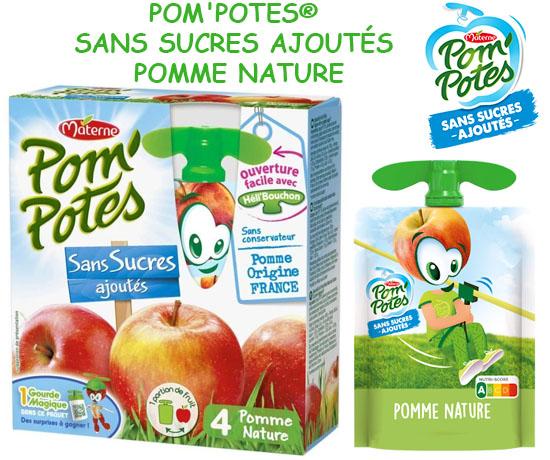 Test Gratuit : Pom'Potes – Compotes SANS SUCRES AJOUTES