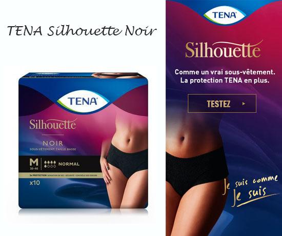 Test Gratuit : Tena – Culotte Silhouette Noire