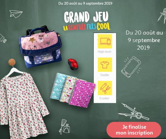 Grand Jeu Concours Auchan Rentrée 2019