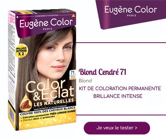 Kit Coloration Blond Cendré 71 de la marque Eugène Color