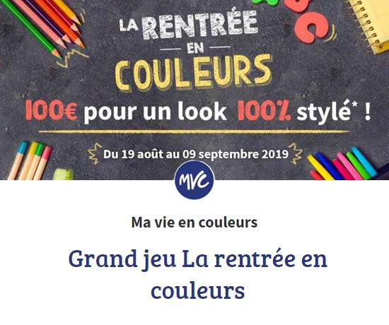 Grand Jeu Concours Rentrée 2019 Ma Vie En Couleur