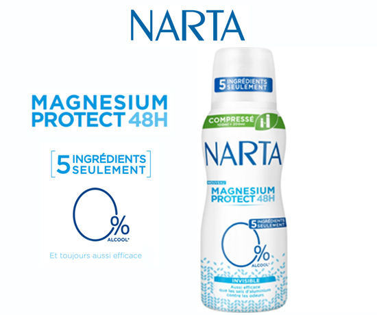 Test Gratuit : Narta – Déodorant Spray