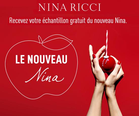 Nina Ricci échantillon gratuit nouveau parfum