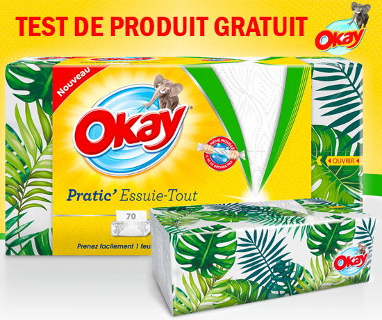 Okay Pratic' Essuie-Tout Compact GRATUIT