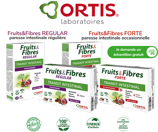 Ortis Capsules Fruits & Fibres Transit Intestinal