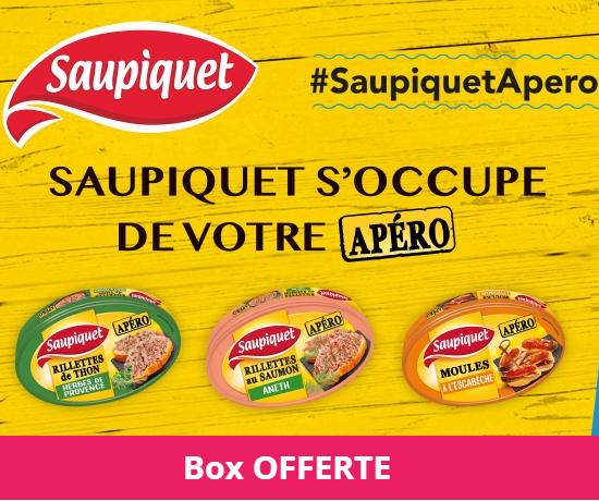 Test Gratuit : Saupiquet – Box Apéro