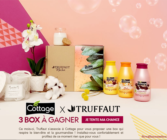 Truffaut & Cottage Jeu Concours et remportez une box Beauté