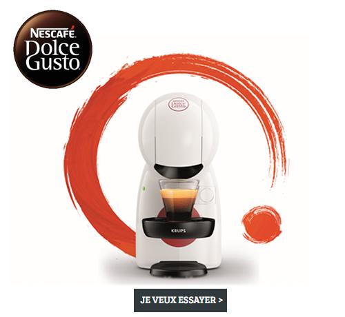 Test Gratuit : Dolce Gusto – Machine à café