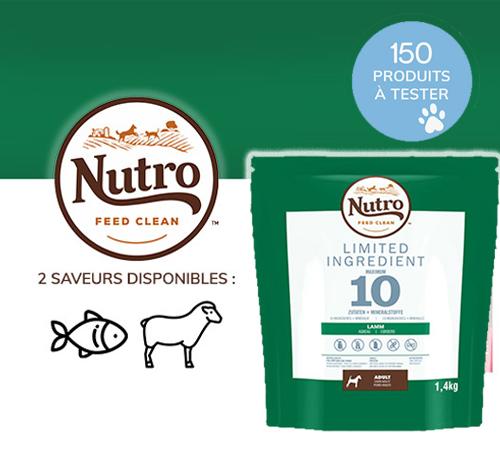 Alimentation pour chien de la marque Nutro