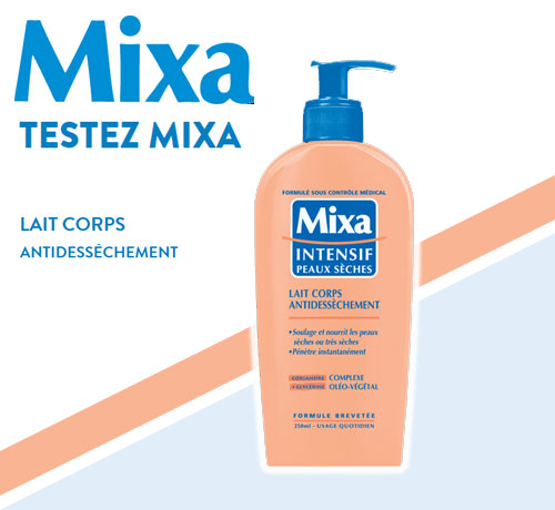 Test Gratuit : Mixa – Lait Corps Antidesséchement