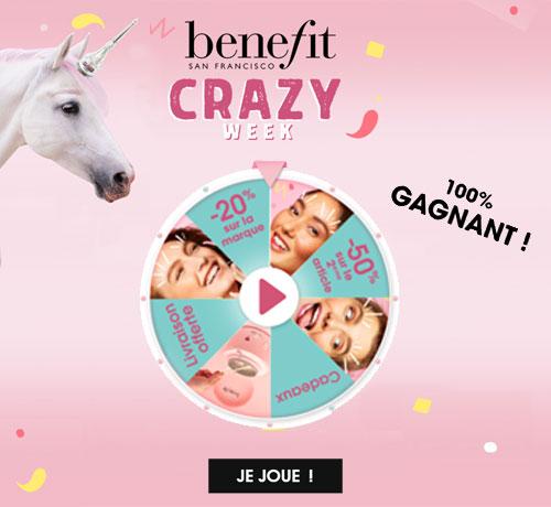 produits maquillage gratuit Bénéfit Crazy grâce à Sephora