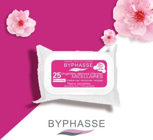 Lingettes démaquillantes de la marque Byphasse