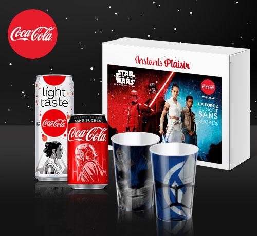 Box dégustation Star Wars de la marque Coca Cola