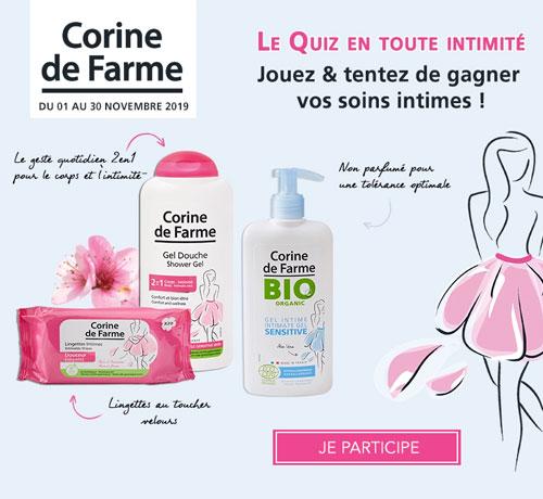 Soins intimes de la marque Corine de Farme