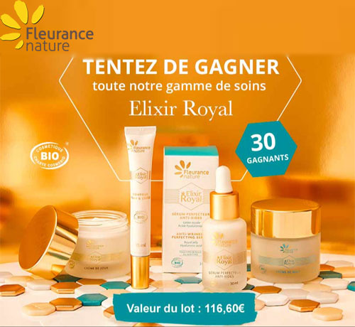 Gamme de Soins Elixir Royal de la marque Fleurance Nature