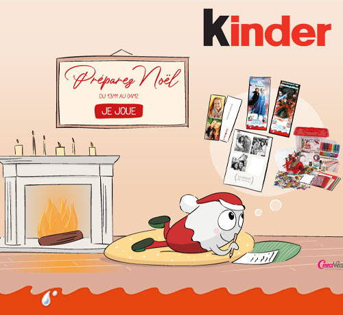 Cadeaux de Noël de la marque Kinder