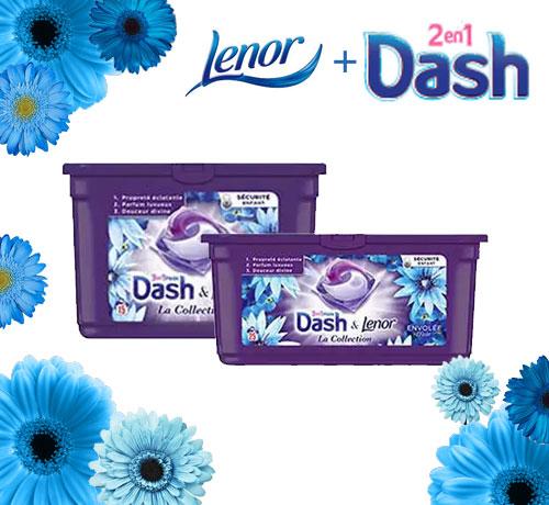 Lessive Pods de la marque Dash & Lenor